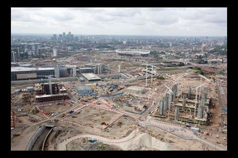 2012 Olympic Park aerial view